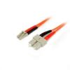 Picture of 1m Multimode 50/125 Duplex Fiber Patch Cable LC - SC