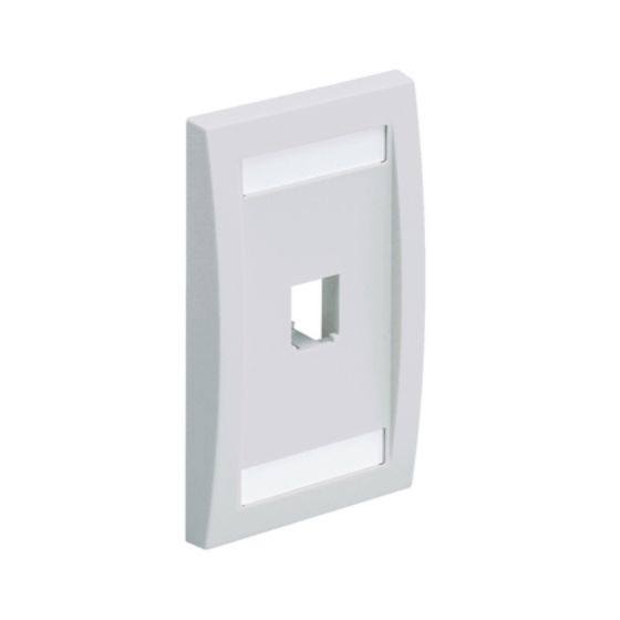 Picture of Panduit CFPE1IW  Faceplate, 1 Port, Single Gang, Executive, White