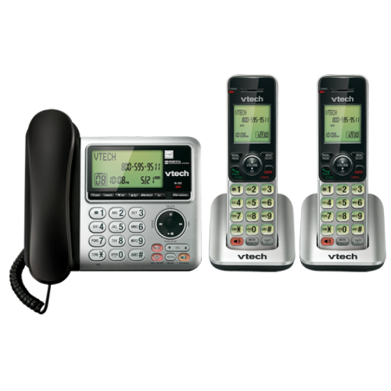 Picture of V-Tech CS6949-2, desk telephone with two DECT 6.0 cordless telephone handsets