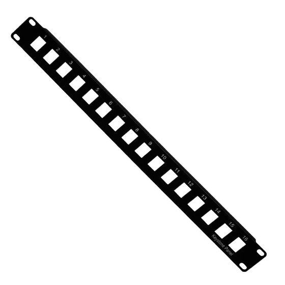 Picture of Keystone Patch Panel 16port Black